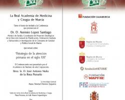 Conferencia 'Estrategia de la atención primaria en el siglo XXI'