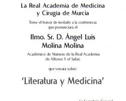 Ciclo de Conferencias - Cultura y Medicina - Literatura y Medicina