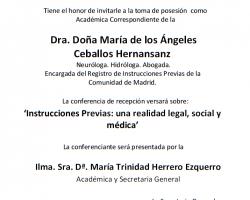 Toma de Posesión como Académica Correspondiente de la Dra. Doña María de los Ángeles Ceballos Hernansanz
