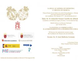 Toma de Posesión como Académico de Número, N°2, de esta Institución el  Ilmo. Sr. D. Eduardo Osuna Carrillo de Albornoz