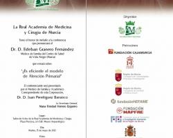 Conferencia '¿Es eficiente el modelo de Atención Primaria?'