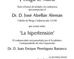 Ciclo de Conferencias - Cultura y Medicina - La Hipertensión
