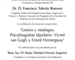 Toma de Posesión como Académico Correspondiente del Dr. D. Francisco Toledo Romero
