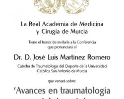 Conferencia - 'Avances en traumatología del deporte'