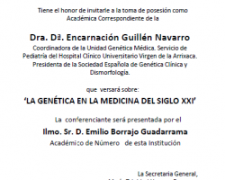 Toma de Posesión como Académico Correspondiente del Dra. Dª. Encarnación Guillén Navarro