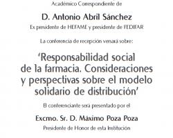 Toma de Posesión como Académico Correspondiente de D. Antonio Abril Sánchez